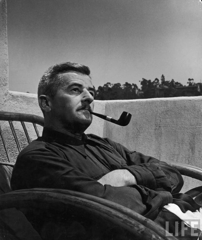 Another great shot of William Faulkner & pipe.