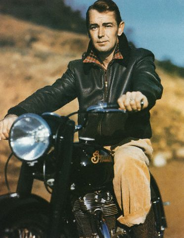 Alan Ladd motorcycle