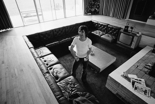 Keith Moon Laughing in His Sunken Living Room, ca. 1972.