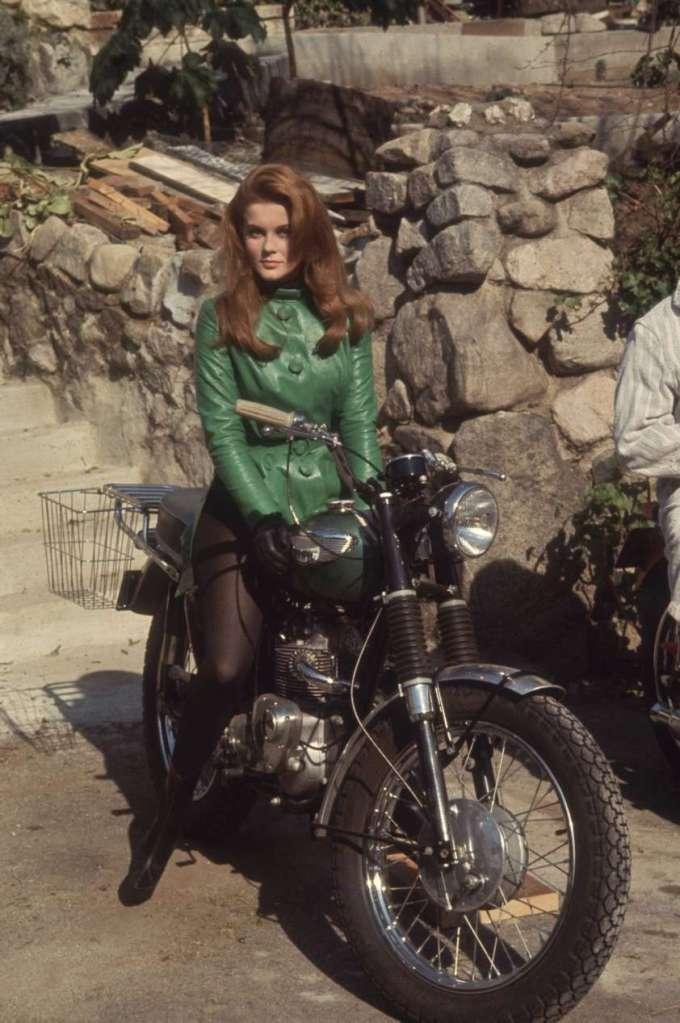 Ann-Margret triumph motorcycle