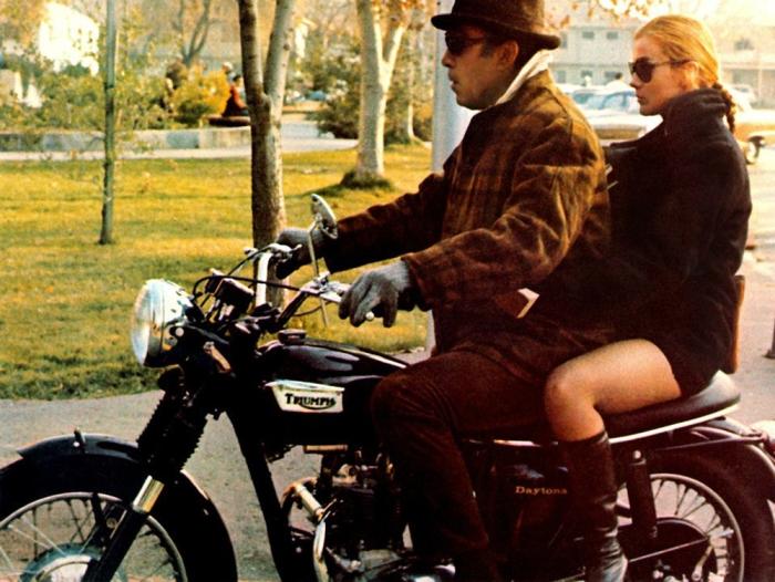anthony quinn ann margret triumph motorcycle