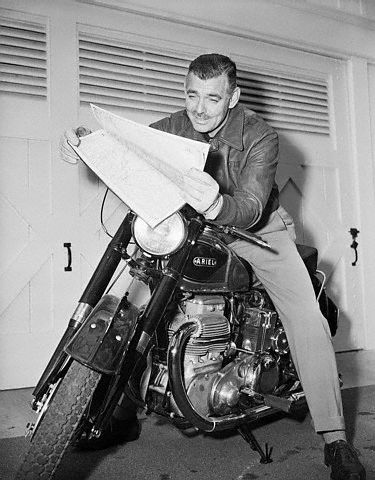 Clark Gable on motorcycle
