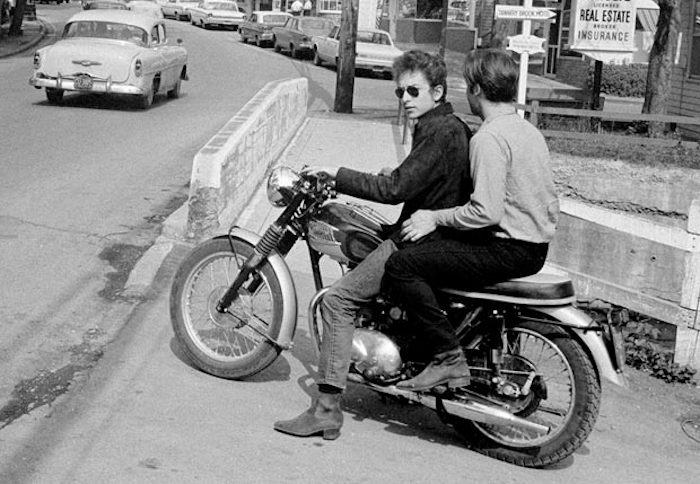 bob dylan triumph motorcycle photo