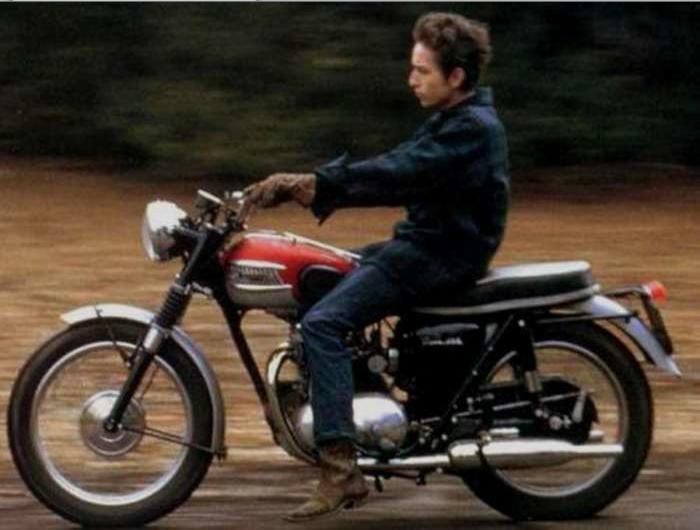 bob dylan triumph motorcycle