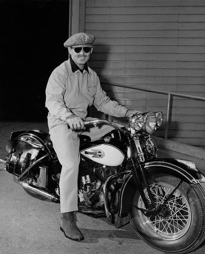 clark gable harley davidson springer motorcycle