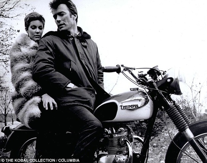 clint eastwood triumph motorcycle coogans bluff