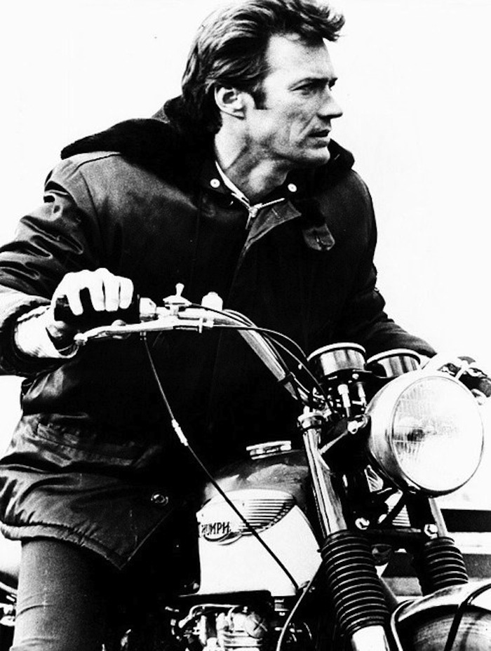 clint eastwood triumph motorcycle