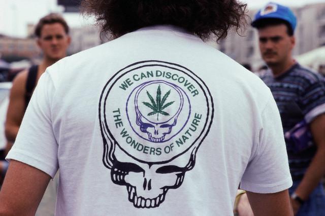 Deadhead Cannabis T-shirt.