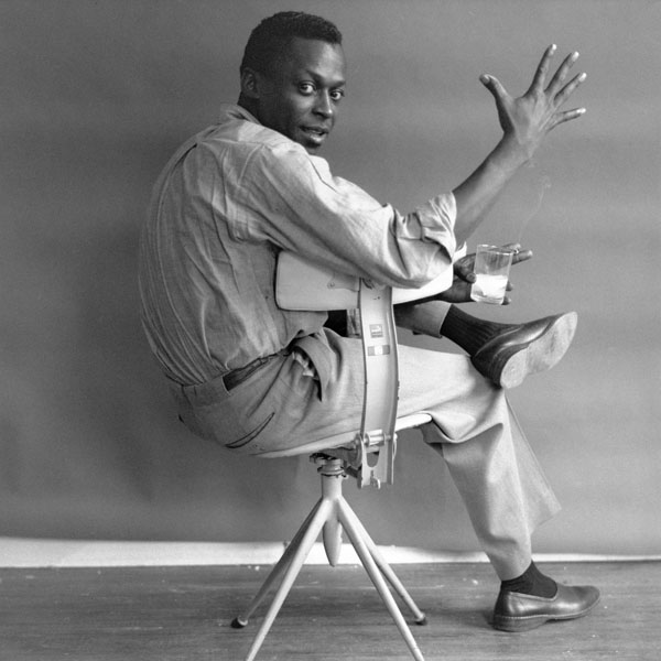 Here's Miles Davis again in those same trousers, and here you see more detail from the back.