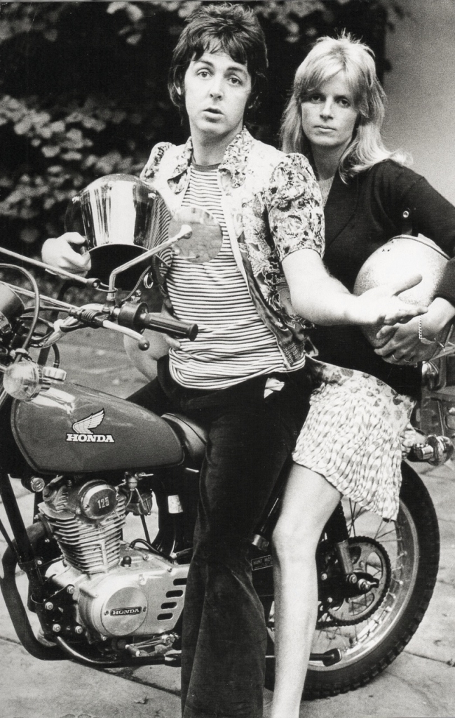 paul linda mccartney honda motorcycle