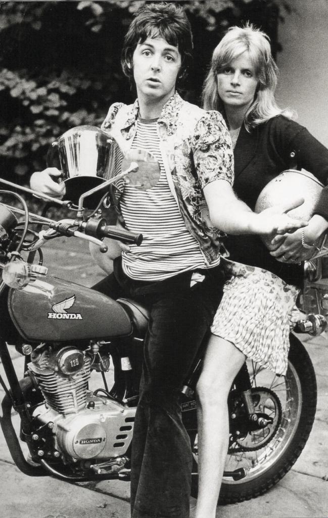 paul linda mccartney honda motorcycle