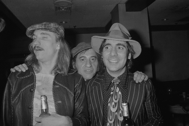 Joe Walsh, Fred Sessler and Keith Moon, ca. 1970s.