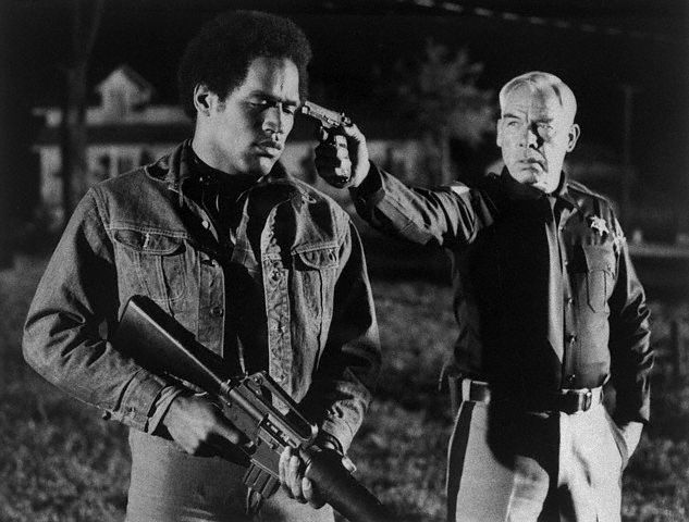 O.J. Simpson and Lee Marvin, ca. 1974.