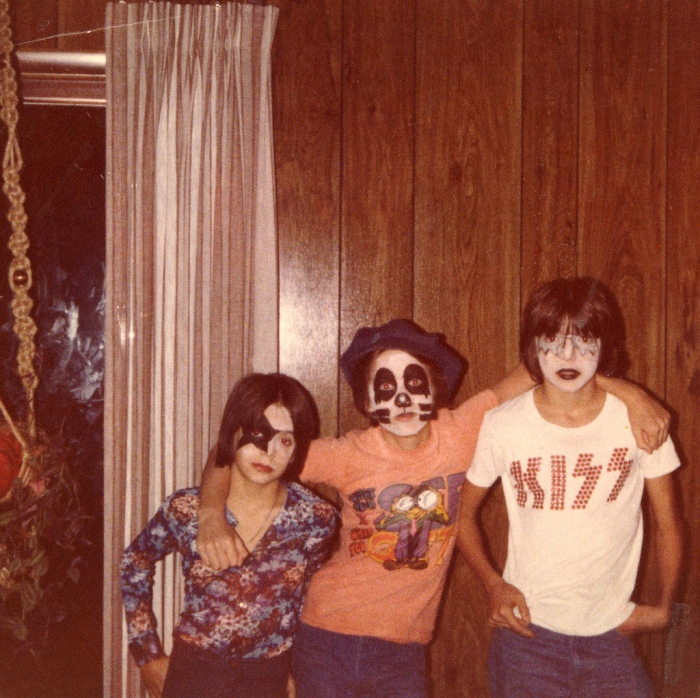 KISS 1970s rock band kids