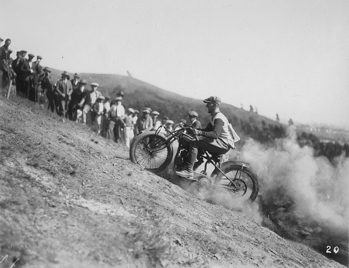 Oakland Motorcycle club hill climb event