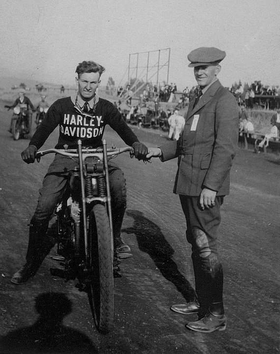 Oakland Motorcycle Club rider, circa 1920s.