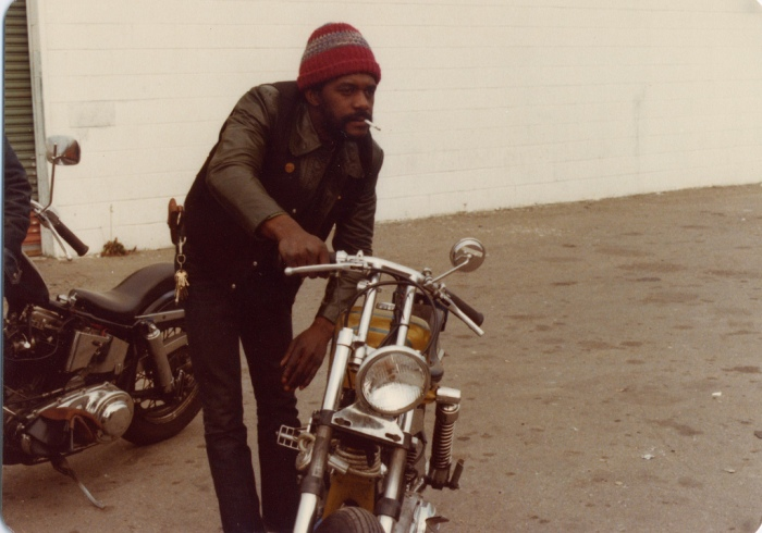 East Bay Dragons Motorcycle Club black biker