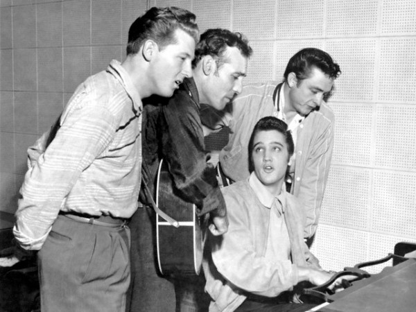 Jerry Lee Lewis, Carl Perkins, Elvis Presley, Johnny Cash