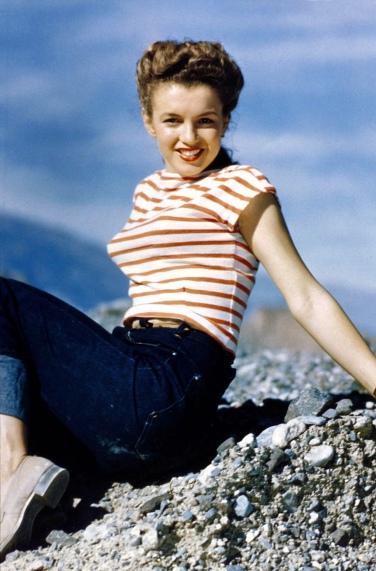 Young Marilyn Monroe.