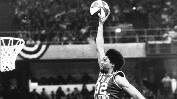 Julius Erving Dr J free throw line dunk