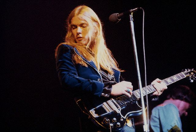 Gregg Allman on guitar, circa 1970s.