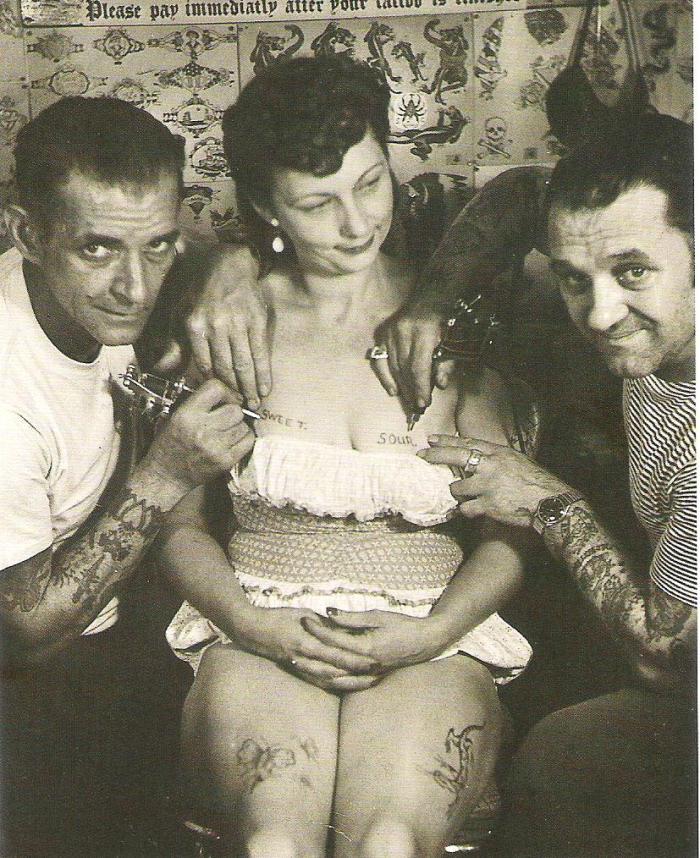 vintage tattoo postcard Al Schiefley Les Skuse