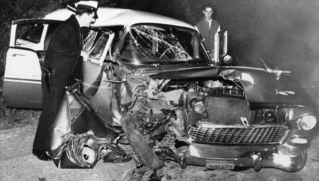 Montgomery Clift car accident crash
