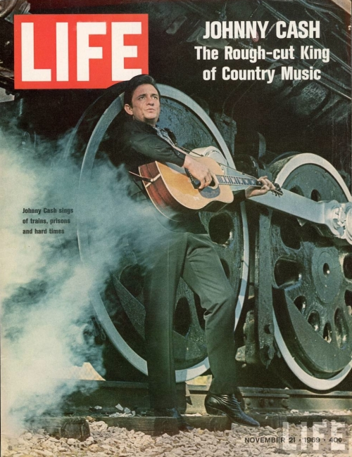 Johnny Cash for the Life magazine cover November 1969