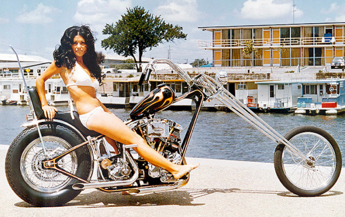 jeff mccann swimsuit model 1970s harley chopper