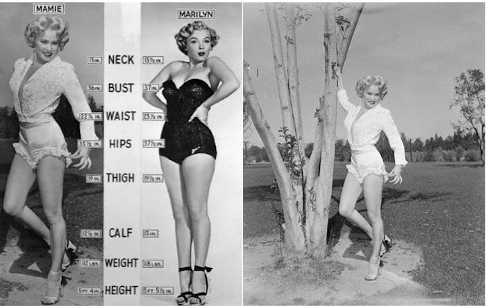 Mamie Von Doren and Marilyn Monroe pinup poster