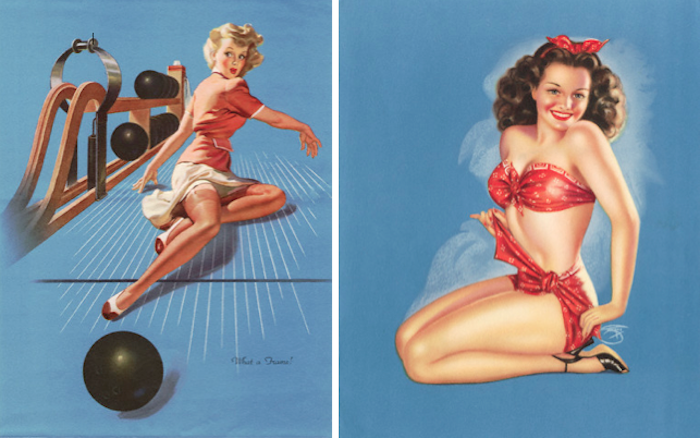 Pinup illustration by Al Buell