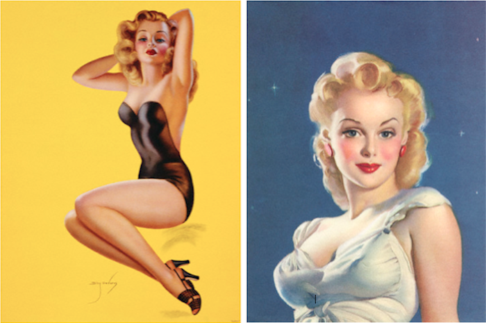 Pinup illustration by Billy Devorss