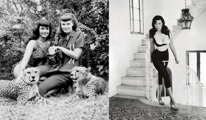 bettie page cheetah bunny yeager stairs