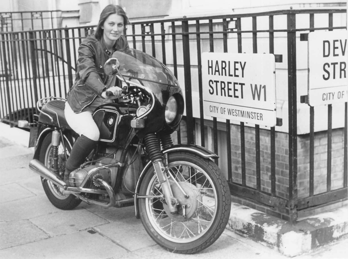 elspeth beard bmw motorcycle harley street