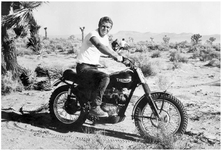 motorcyle steve mcqueen doin it in the dirt triumph desert bike by bud ekins. Black Bedroom Furniture Sets. Home Design Ideas