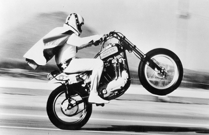 Evel Knievel Bike: VINTAGE EVEL KNIEVEL IN HIS