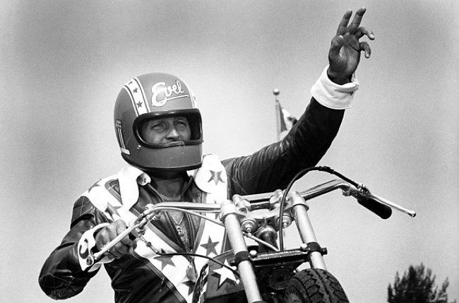 Duecilindri Evel Knievel Xr750: VINTAGE EVEL KNIEVEL IN HIS