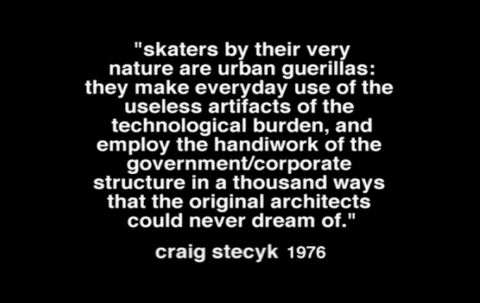 craig stecyk skater quote z-boys