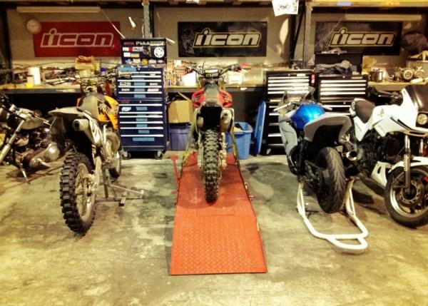 icon motorsports garage motrcycle