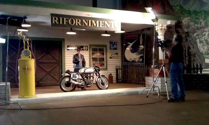 retro moto tv set matt smith norton manx