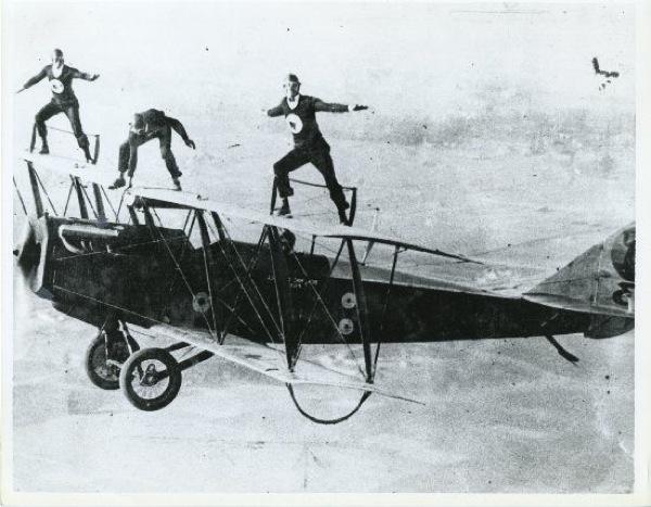 13 black cats biplane jenny stunt