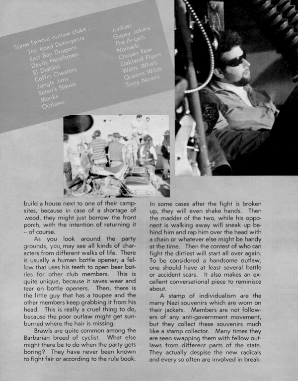 BARRED MOTORCYCLE MAGAZINE 1960S PAGE 10