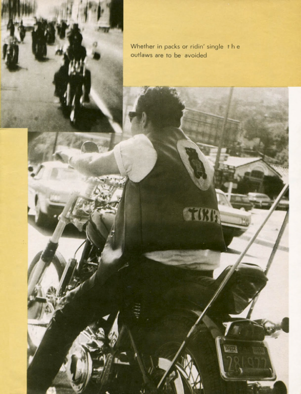 BARRED MOTORCYCLE MAGAZINE 1960S PAGE 12