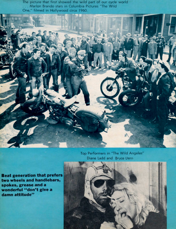 BARRED MOTORCYCLE MAGAZINE 1960S PAGE 18