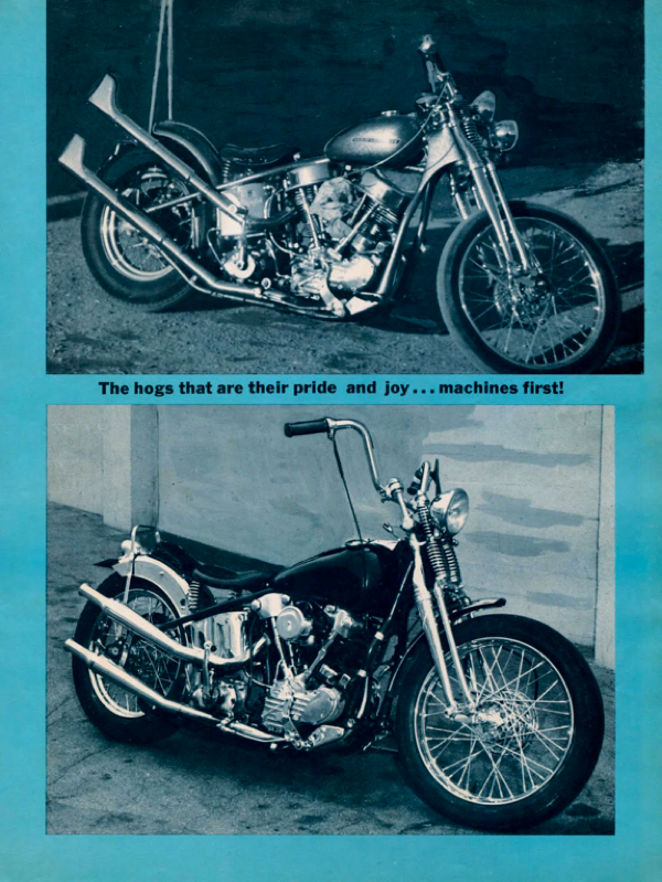 BARRED MOTORCYCLE MAGAZINE 1960S PAGE 19