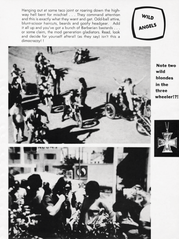BARRED MOTORCYCLE MAGAZINE 1960S PAGE 5