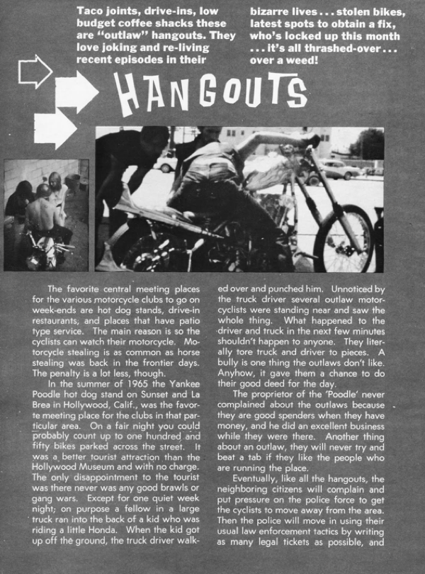 BARRED MOTORCYCLE MAGAZINE 1960S PAGE 6