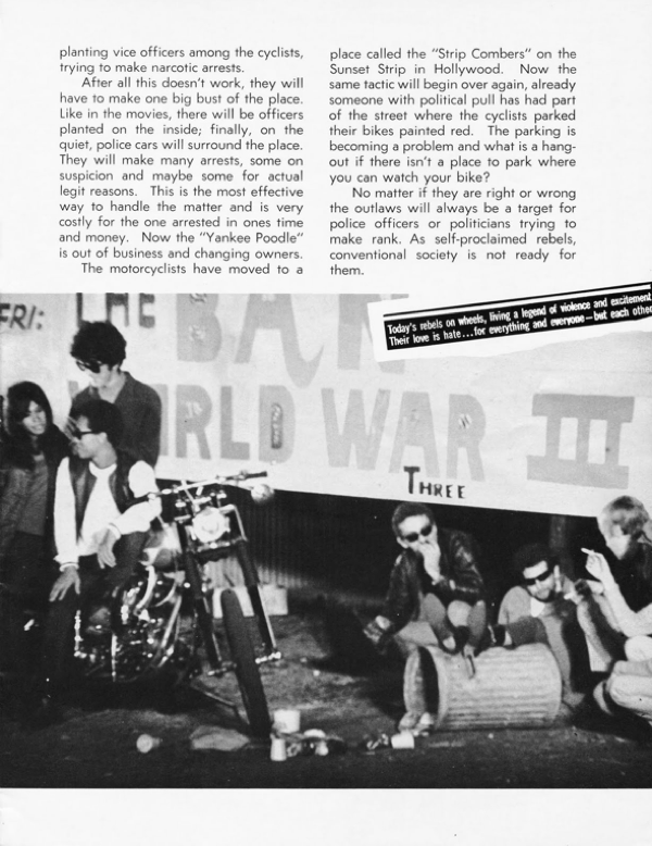 BARRED MOTORCYCLE MAGAZINE 1960S PAGE 7