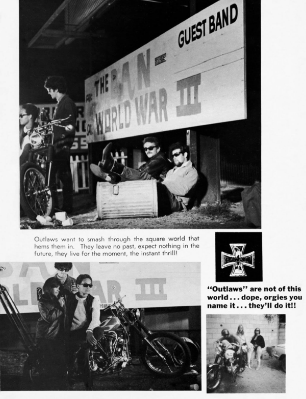 BARRED MOTORCYCLE MAGAZINE 1960S PAGE 8