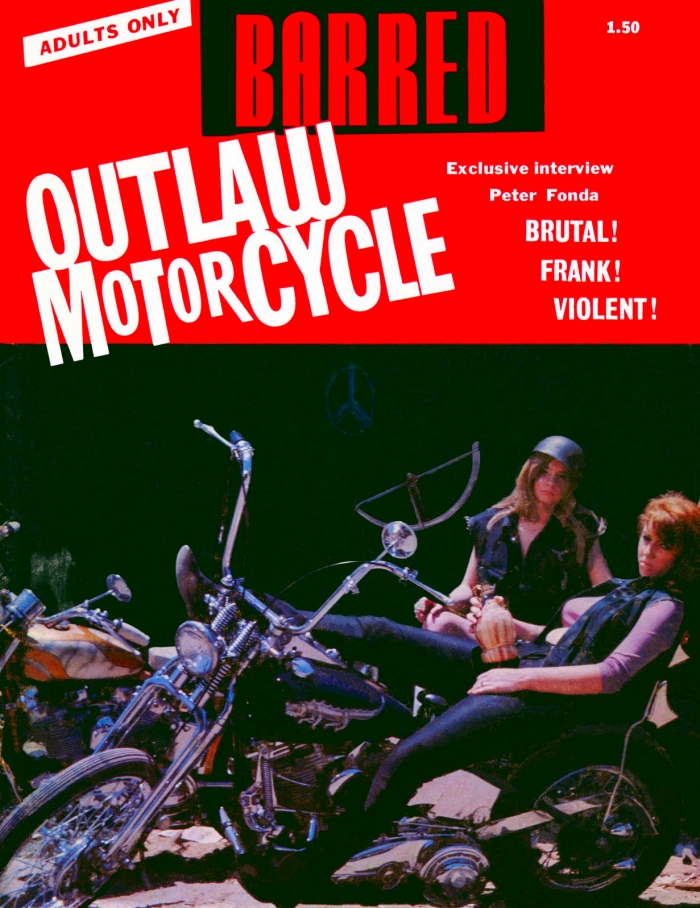 1966 BARRED OUTLAW MOTORCYCLE MAGAZINE | BRUTAL! FRANK ...